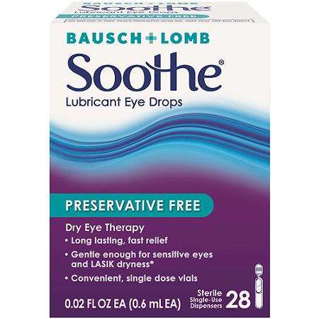 Bausch + Lomb Soothe Dry Eye products Printable Coupon