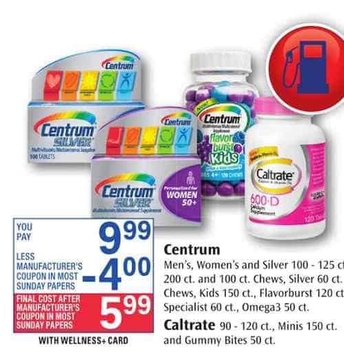 Get Centrum Or Centrum Silver Multivitamins Only 5 99 After Printable Coupon And Rite Aid Matchup New Coupons And Deals Printable Coupons And Deals