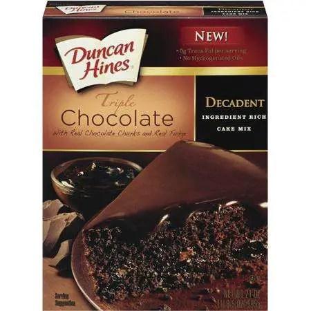 Duncan Hines Triple Chocolate Cake Mix Printable Coupon