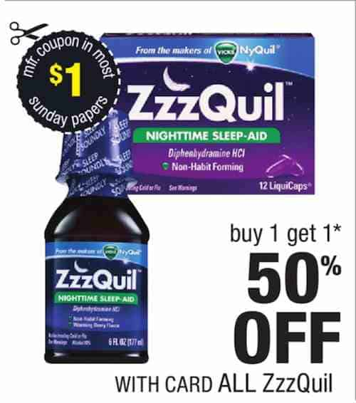 ZzzQuil Products Printable Coupon
