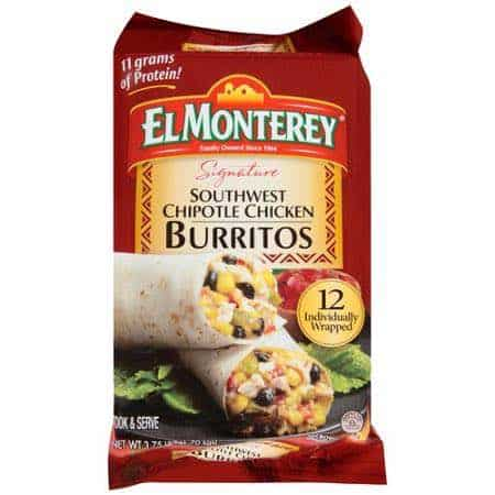El Monterey 12-count Southwest Chipotle Chicken Burrito Printable Coupon