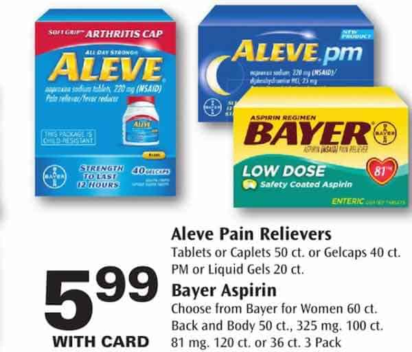 Aleve Products Printable Coupons