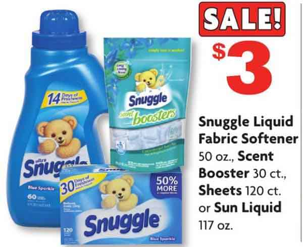 Snuggle Laundry Products Printable Coupon