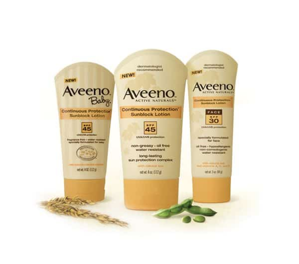 Aveeno Sun Care Products Printable Coupon