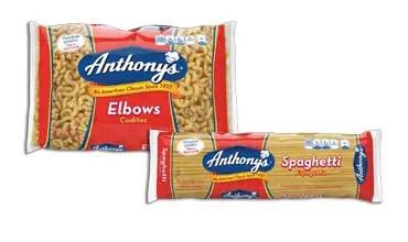 Anthony's Pasta Printable Coupon