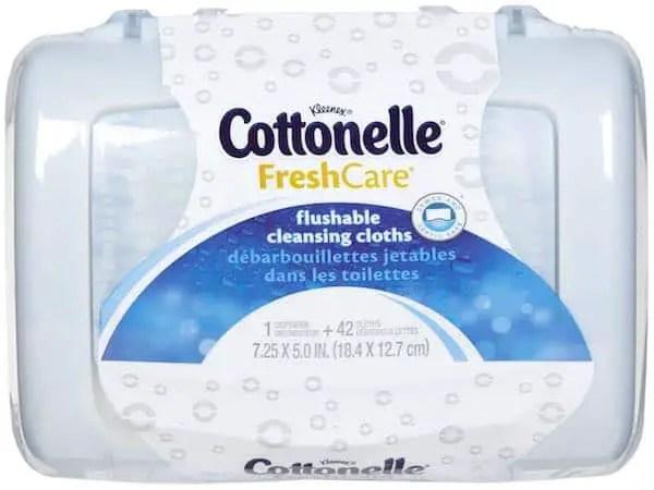 Cottonelle Cleansing Cloths 42ct Tub Printable Coupon