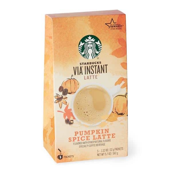 Starbucks Via Pumpkin Spice Latte Printable Coupon