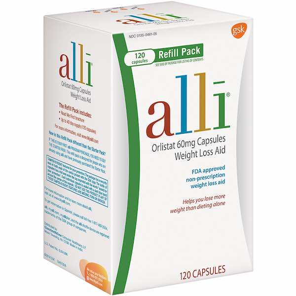 Alli OTC weight loss aid 120ct Printable Coupon