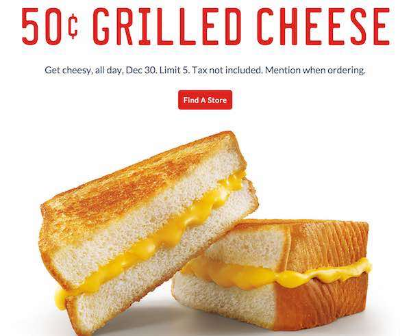 Sonic Griled Cheese Printable Coupon