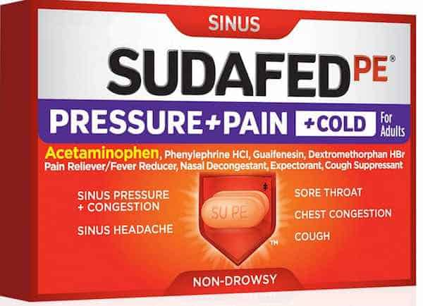 Sudafed PE Products Printable Coupon
