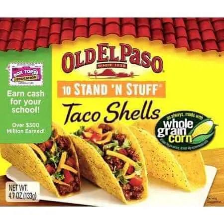 Old El Paso Stand 'N Stuff Taco Shells Printable Coupon
