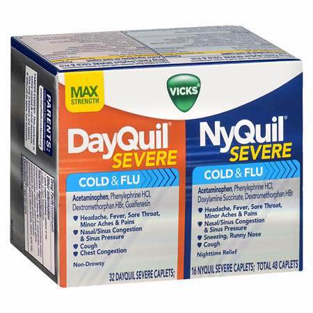 DayQuil and NyQuil Severe Combo Pack Printable Coupon