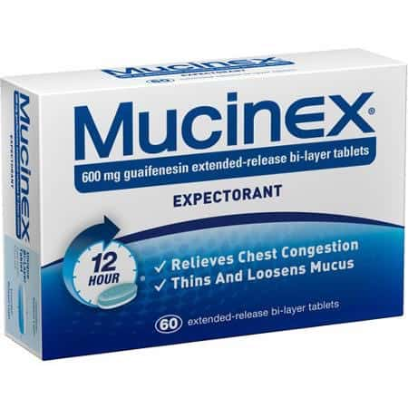 Mucinex 60ct Product Printable Coupon