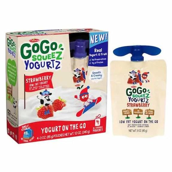 GoGo Squeez Yogurtz 4pk Printable Coupon