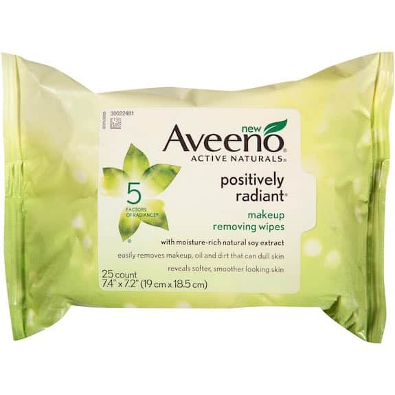 Aveeno Positively Radiant Makeup Removing Wipes 25ct Printable Coupon