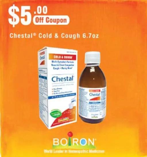 Boiron Chestal Cold & Cough Printable Coupon