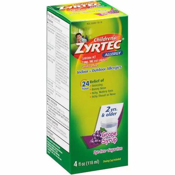 Children's Zyrtec Liquid 4oz Printable Coupon