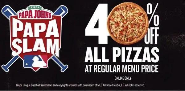 Papa John's Pizza Deals Printable Coupon