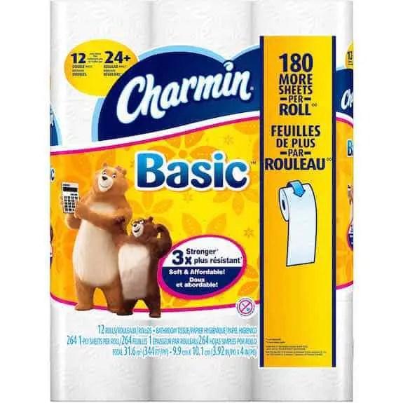 Charmin Basic Big Roll Toilet Paper 12ct Printable Coupon