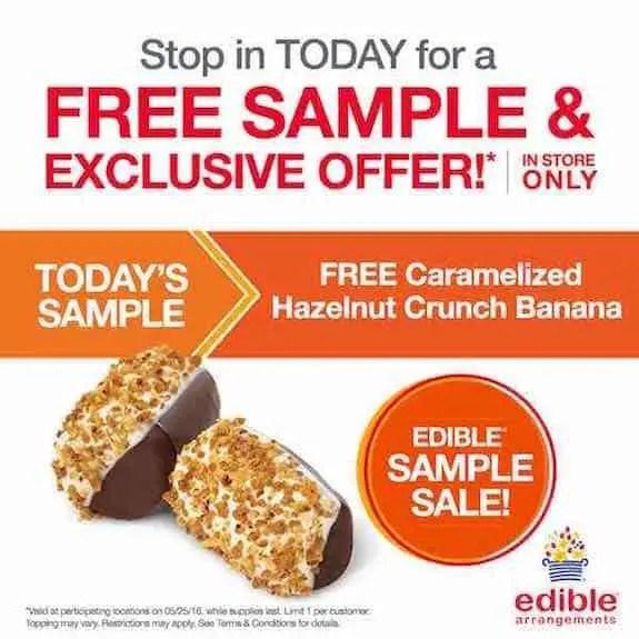 Edible Arrangements Hazelnut Banna Crunch Printable Coupon