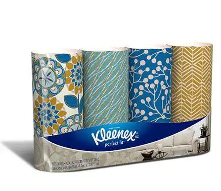 Kleenex Perfect Fit Facial Tissue 4pk Printable Coupon