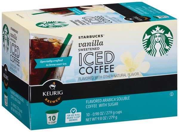 Starbucks Sweetened Iced Coffee K-Cups 10ct Printable Coupon