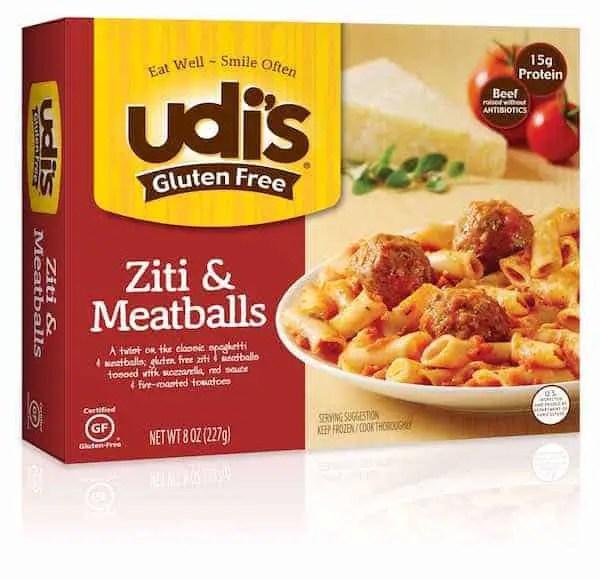 Udi's Gluten Free Ziti & Meatballs Printable Coupon