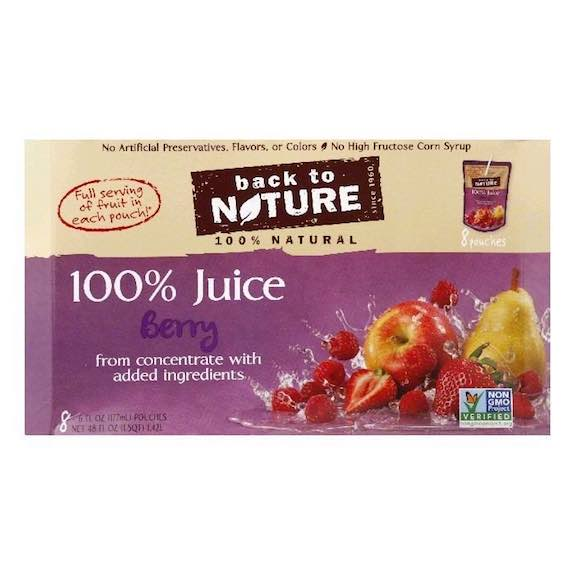 Back to Nature Juice Blend 8pk Pouches Printable Coupon