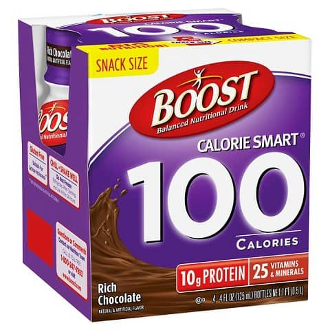 Boost 100 Calorie Nutritional Drink 4pk Printable Coupon