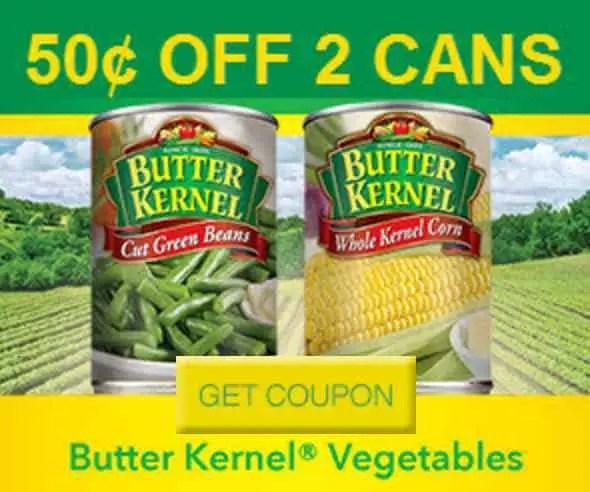 Butter Kernel Vegetables Printable Coupon