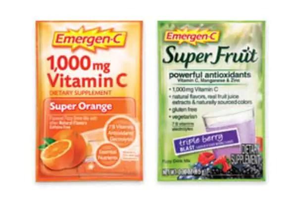 Free Sample Of Emergen C Vitamin Supplement Drink Mix