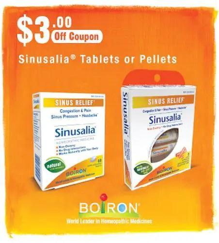 Boiron Sinusalia Tablets Printable Coupon