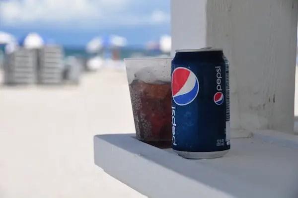 Pepsi At Beach Image