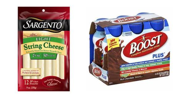 Sargento & Boost Products Printable Coupon