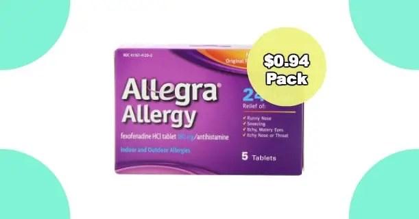 Allegra Allergy 5ct Pack Image