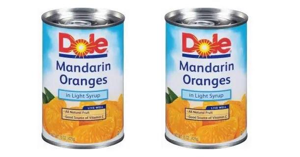 Dole Mandarin Oranges 15oz Cans Printable Coupon