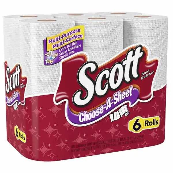 Scott Paper Towels 6ct Pack Printable Coupons