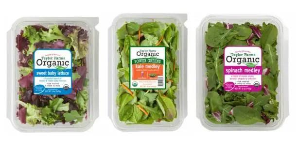 Taylor Farms Organic Salad Product Printable Coupon