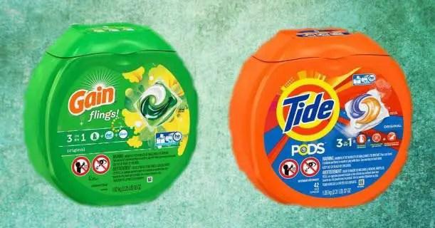 Tide Pods & Gain Flings 42ct Packs Image