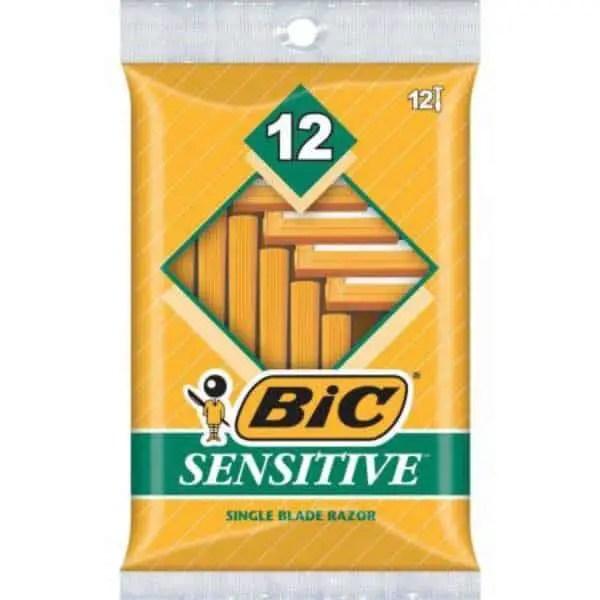 BIC Sensitive Men's Disposable Razors 12ct Pack Printable Coupon