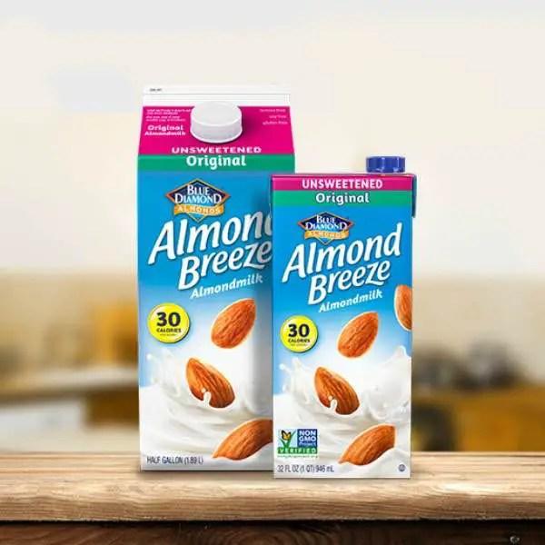 Blue Diamond Shelf Stable Almond Breeze Almondmilk 32oz Printable Coupon