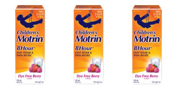Children's Motrin Product Printable Coupon