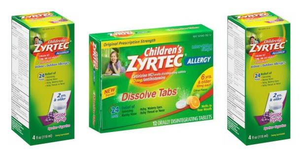 Children's Zyrtec Products Image