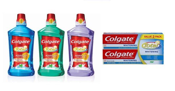 Colgate Twin Pack Toothpaste & Mouthwash Image