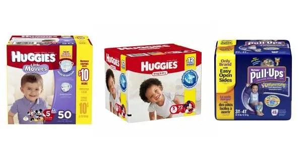 Huggies Diaper Boxes Image