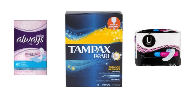 Tampax, Always, U By Kotex Feminine Care Products Image