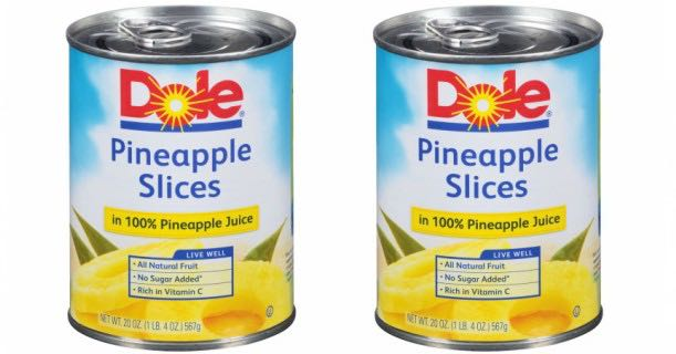 Dole Pineapple Cans