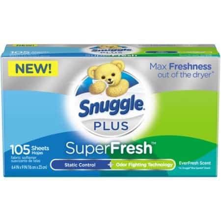 Snuggle Plus SuperFresh Sheets 105ct Printable Coupon
