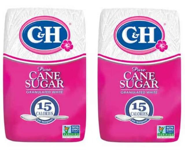 CH Cane Sugar Bags