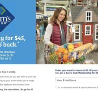 HOT! $45 off Your First Purchase with a $45 Sam's Club Membership!